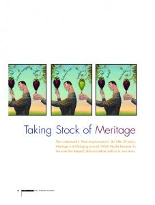 Taking Stock of Meritage