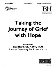 Taking the Journey of Grief with Hope