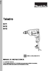 Taladro MANUAL DE INSTRUCCIONES DOBLE AISLAMIENTO