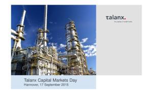 Talanx Capital Markets Day Hannover, 17 September 2015