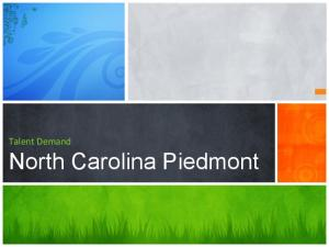 Talent Demand. North Carolina Piedmont