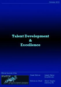 Talent Development & Excellence
