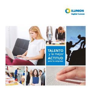 TALENTO y la mejor ACTITUD para tu empresa
