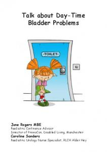 Talk about Day-Time Bladder Problems