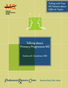 Talking about Primary-Progressive MS