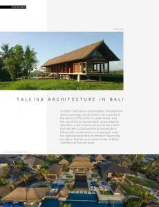 TALKING ARCHITECTURE IN BALI