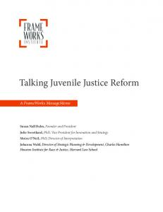 Talking Juvenile Justice Reform