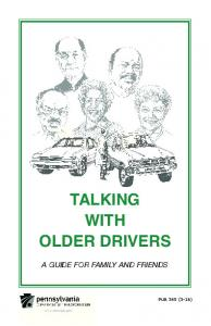 TALKING WITH OLDER DRIVERS