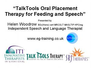 TalkTools Oral Placement Therapy for Feeding and Speech