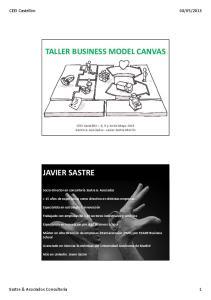 TALLER BUSINESS MODEL CANVAS