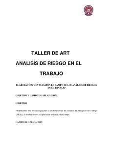 TALLER DE ART ANALISIS DE RIESGO EN EL TRABAJO
