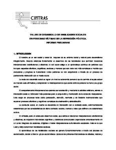 TALLER DE DESARROLLO DE HABILIDADES SOCIALES