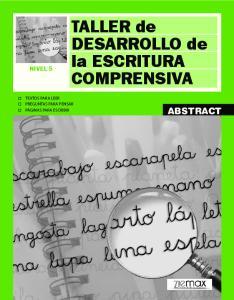 TALLER de DESARROLLO de la ESCRITURA COMPRENSIVA