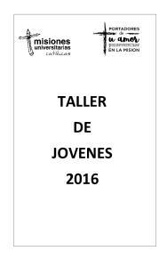 TALLER DE JOVENES 2016