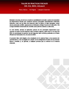 TALLER DE PRACTICAS FISCALES ISR, IVA, IMSS, Infonavit