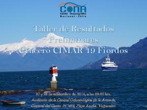 Taller de Resultados Preliminares Crucero CIMAR 19 Fiordos