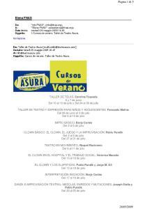 TALLER DE TELAS. Carolina Touceda 6 y 7 de junio Del 10 al 12 de julio y Del 24 al 26 de julio