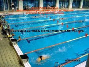 TALLER PARA EL BUEN MANTENIMIENTO DE PISCINA