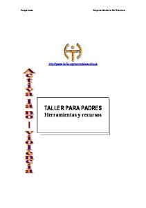 TALLER PARA PADRES Herramientas y recursos
