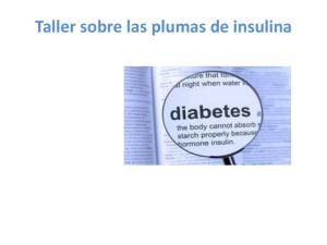 Taller sobre las plumas de insulina
