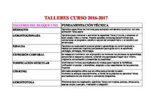 TALLERES CURSO