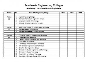 Tamilnadu Engineering Colleges