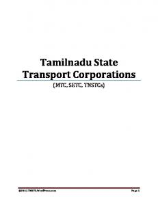 Tamilnadu State Transport Corporations