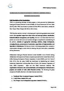 TAMILNADU WATER INVESTMENT COMPANY LIMITED (TWIC) BUSINESS EXCELLENCE