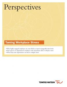 Taming Workplace Stress