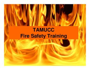TAMUCC Fire Safety Training