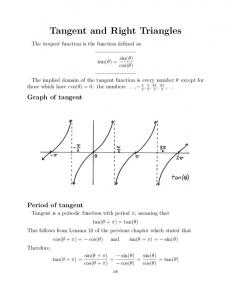 Tangent and Right Triangles