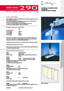 TANGENT FOLDING EXTERNAL FOLDING DOORS TOP HUNG TIMBER OR METAL DOORS APPLICATION