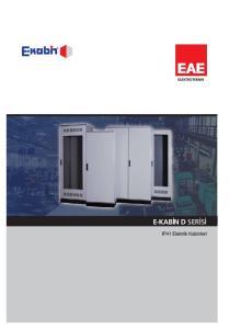 TANITIM. E-Kabin D Serisi Elektrik Kabinleri