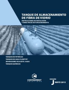 TANQUE DE ALMACENAMIENTO DE FIBRA DE VIDRIO