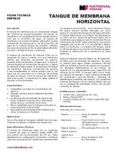 TANQUE DE MEMBRANA HORIZONTAL