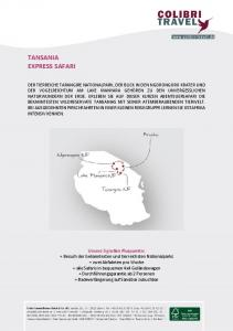 TANSANIA EXPRESS SAFARI