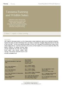 Tanzania Running and Wildlife Safari