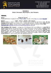 TANZANIA Safari: Serengeti, Ngorongoro, Lake Manyara