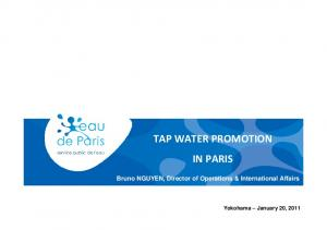 TAP WATER PROMOTION IN PARIS