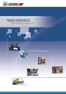 TAREAS ESPECIALES APLICACIONES ESPECIALES