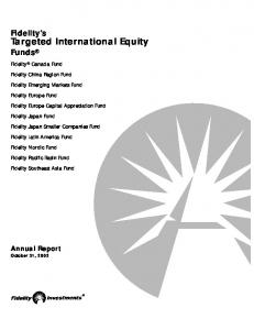 Targeted International Equity Funds