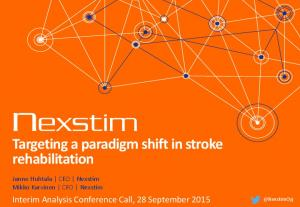 Targeting a paradigm shift in stroke rehabilitation