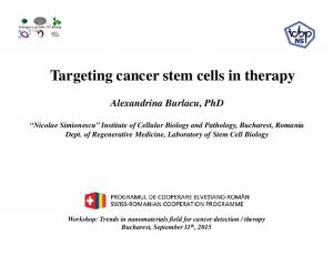 Targeting cancer stem cells in therapy