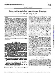 Targeting Fibrosis in Duchenne Muscular Dystrophy