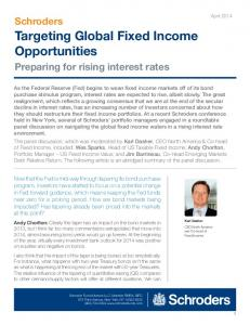 Targeting Global Fixed Income Opportunities