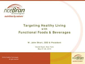 Targeting Healthy Living