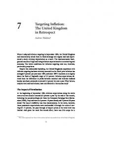 Targeting Inflation: The United Kingdom in Retrospect