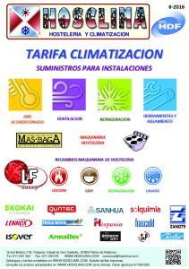 TARIFA CLIMATIZACION