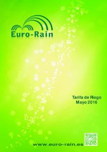Tarifa de Riego Mayo 2016