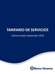 TARIFARIO DE SERVICIOS